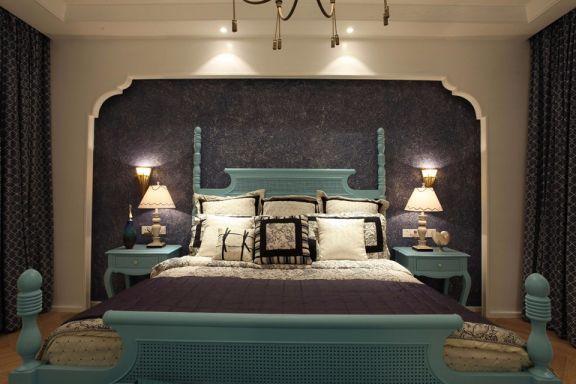 卧室床头柜地中海风格装修图片