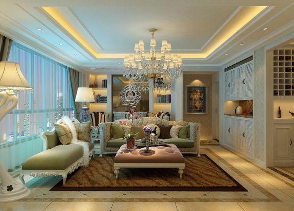 250平米简欧风格四居室装修效果图