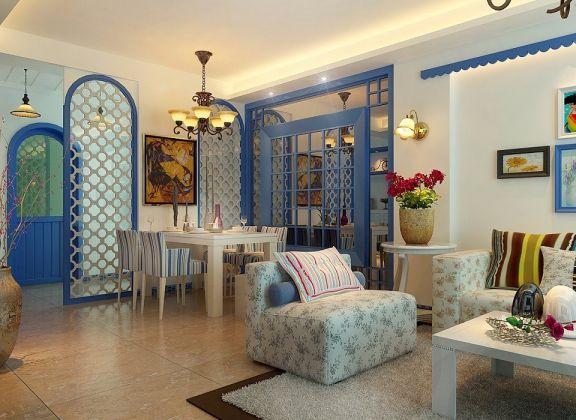 餐厅隔断地中海风格装饰图片
