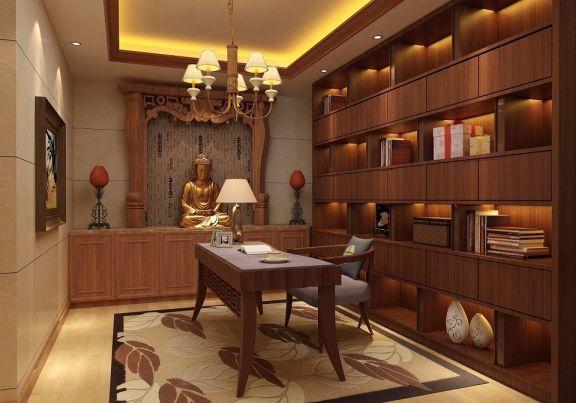 书房细节中式风格装饰效果图