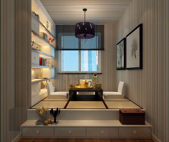 书房榻榻米现代风格装修设计图片