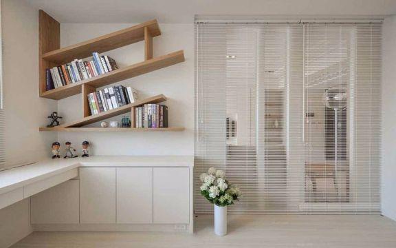 书房书桌日式风格装潢设计图片