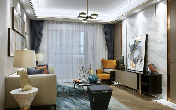 九鼎世家145平米简约风格3室2厅装修效果图