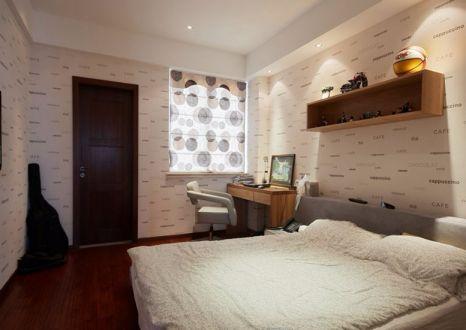 卧室米色床简欧风格装潢效果图