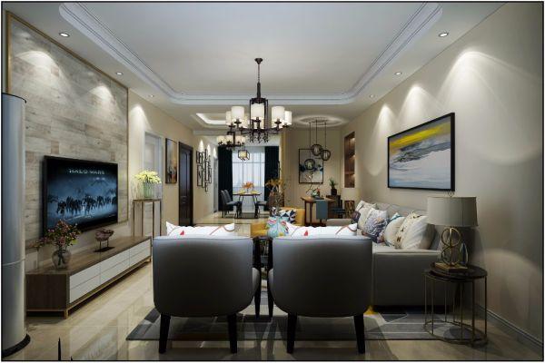碧桂园现代简约128平三居室装修效果图
