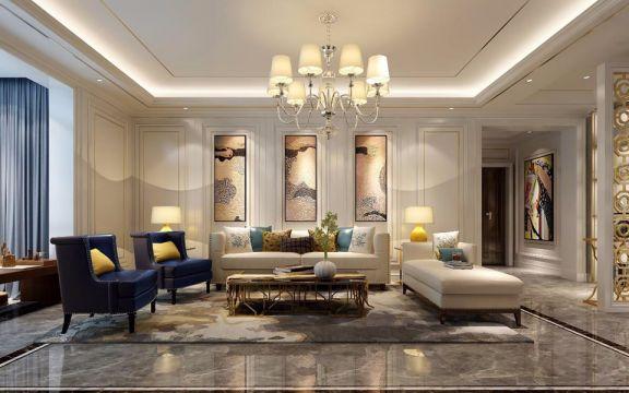 现代简约风格145平米四室两厅新房装修效果图