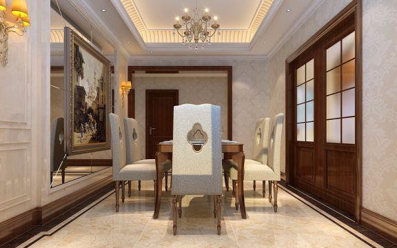 餐厅咖啡色欧式风格装饰设计图片