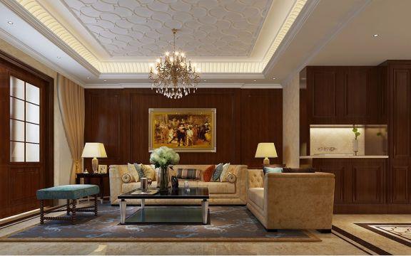 客厅黑色欧式风格装潢设计图片