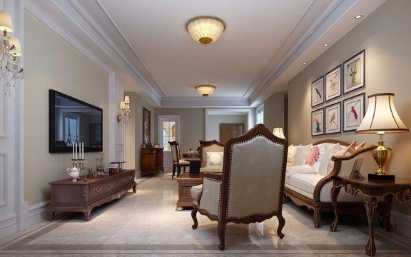 客厅灰色欧式风格装饰效果图
