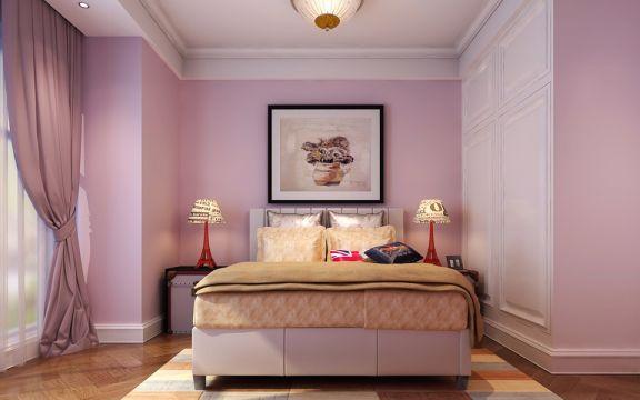 卧室粉色欧式风格装潢效果图