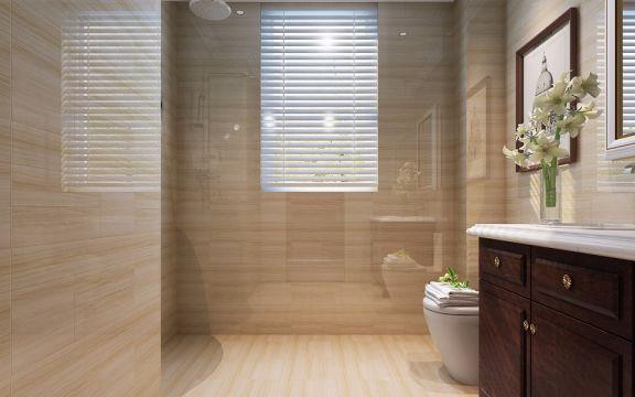 卫生间咖啡色欧式风格装饰图片