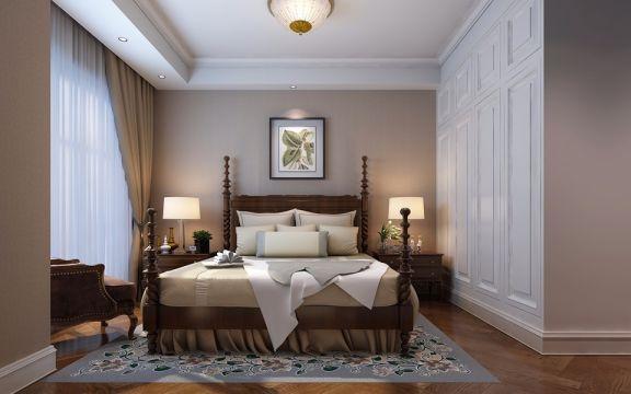 卧室白色衣柜欧式风格装潢图片