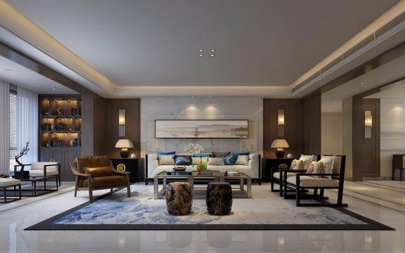 联盟新城200平米中式四居室装修效果图
