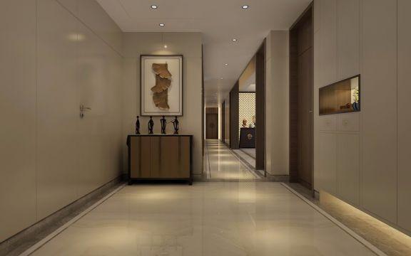 玄关走廊中式风格装潢图片