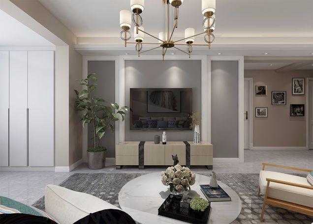 北欧风格90平两居室装修效果图