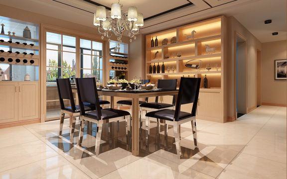 餐厅餐桌现代简约风格装饰效果图