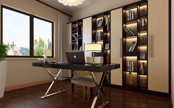 书房书架现代简约风格装修图片