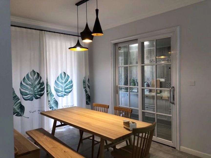 餐厅推拉门北欧风格装潢设计图片
