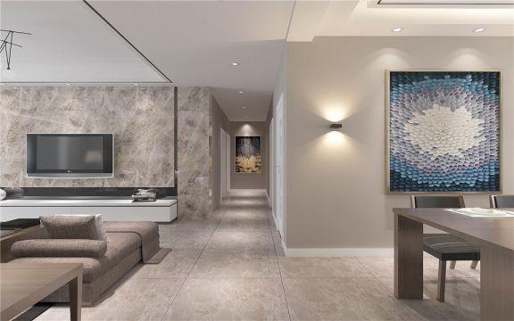 融侨天骏101平米三居室现代风格效果图