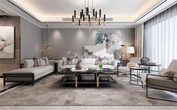 保利香槟国际140平米四居室现代风格装修效果图