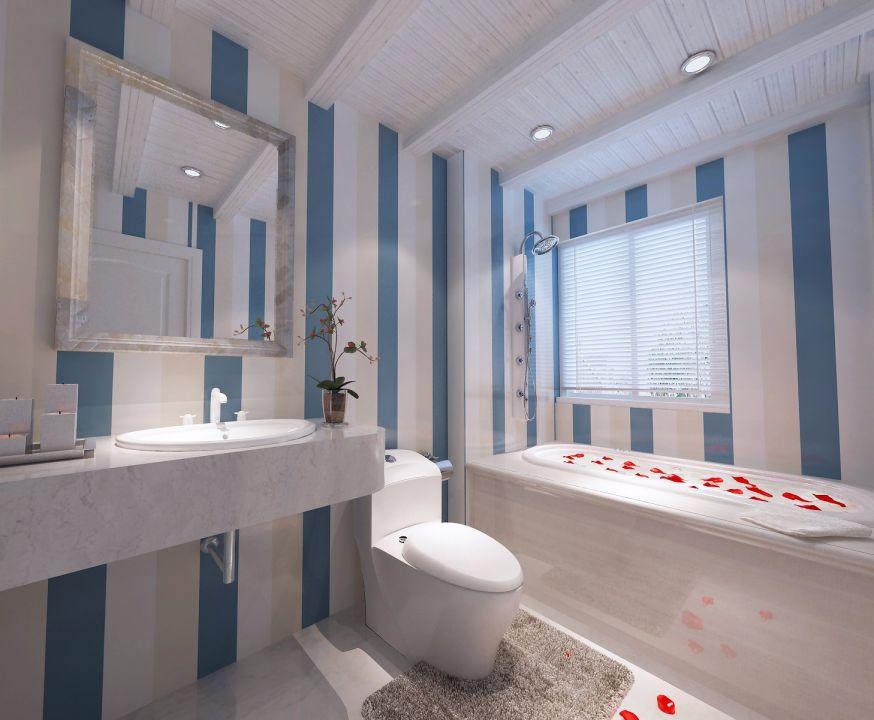 卫生间细节地中海风格装饰图片