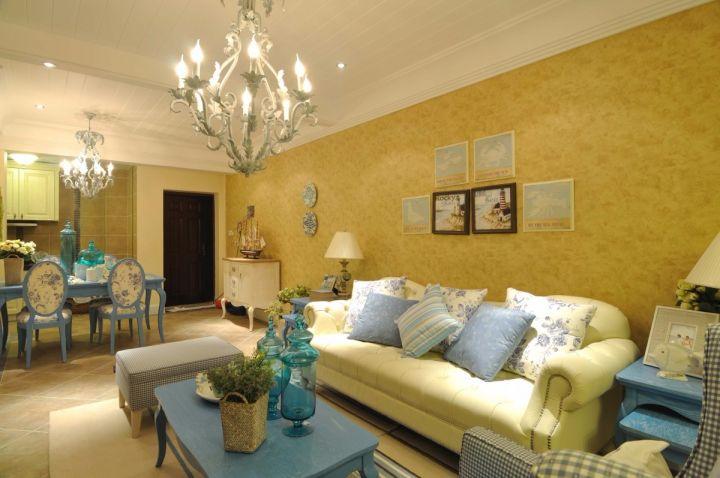 景秀世家135平地中海风格三居室装修效果图