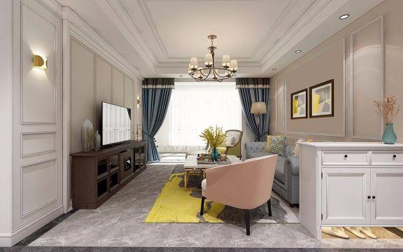 混搭风格133平米三室两厅新房装修效果图