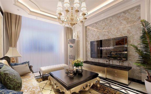凤凰国际100平两室两厅欧式风格装修效果图