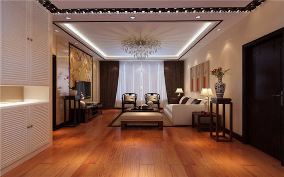 90平米新中式二居室装修效果图