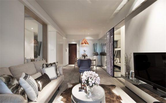 现代风格70平米一室两厅新房装修效果图