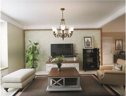 田园风格88平米三室两厅新房装修效果图