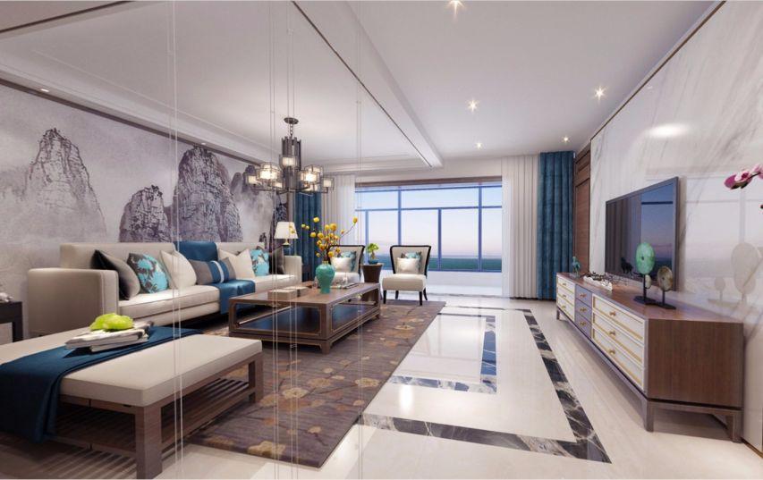 新中式风格240平米四室三厅新房装修效果图