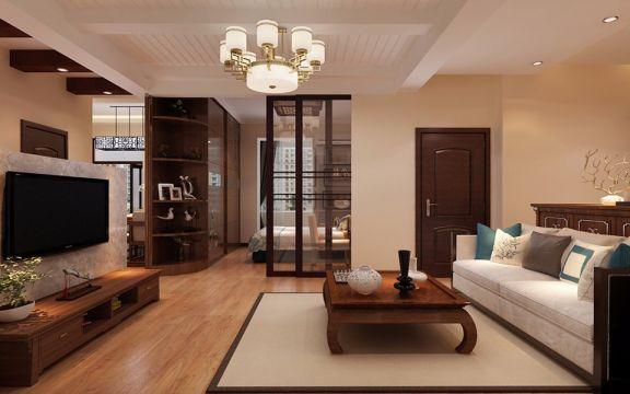 80平米中式二居室装修效果图