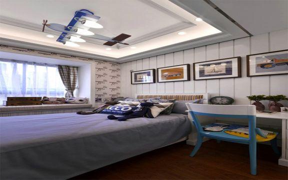 卧室照片墙美式风格装饰图片