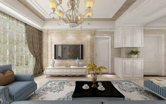 欧式风格122平米三室两厅新房装修效果图