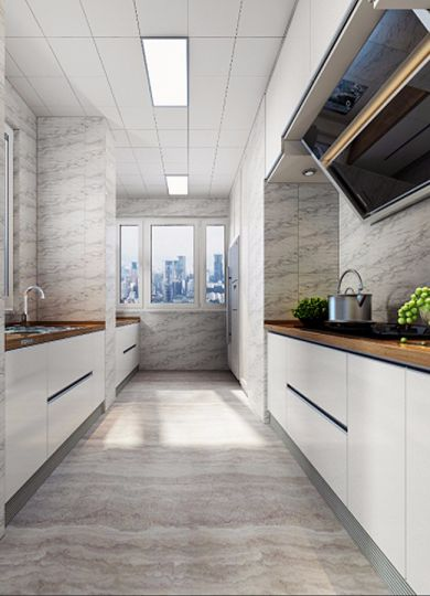 厨房橱柜新中式风格装潢设计图片