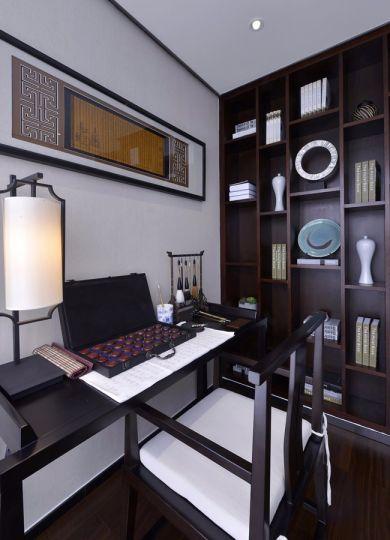 书房博古架新中式风格效果图