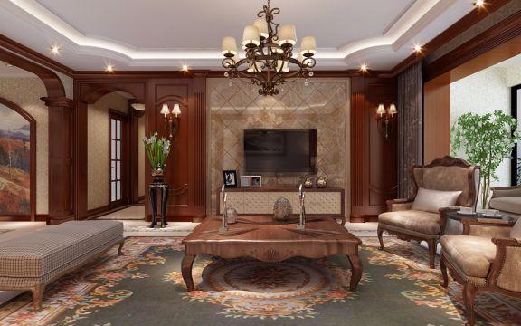 客厅茶几欧式风格装修图片