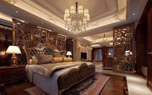卧室床头柜新中式风格装修图片