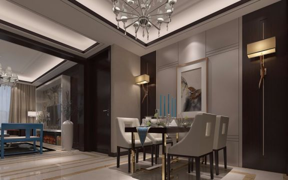 现代简约风格146平米四室两厅新房装修效果图