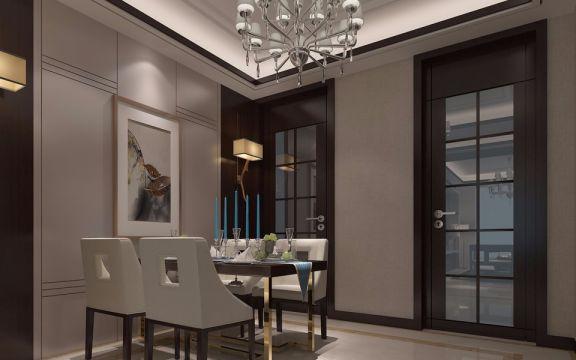 餐厅灯具现代简约风格装潢效果图