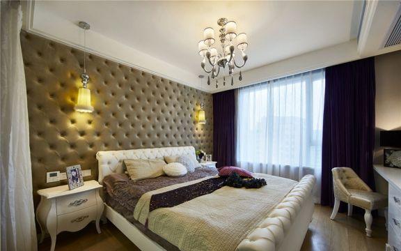 美丽嘉园新古典风格110平方三居室装修效果图