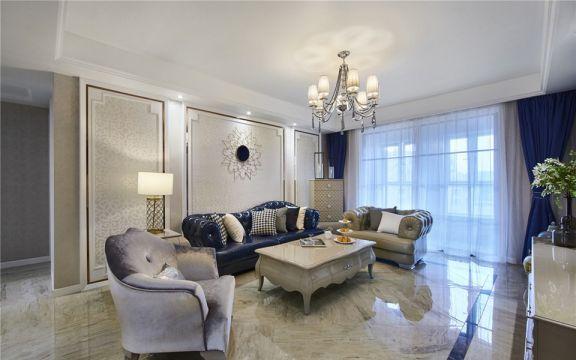 客厅茶几新古典风格装修效果图