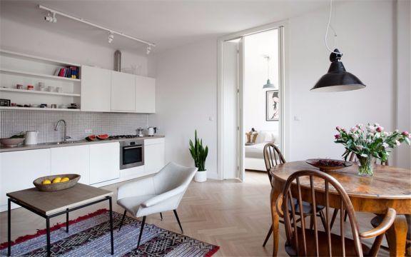 田园风格81平米两室两厅新房装修效果图