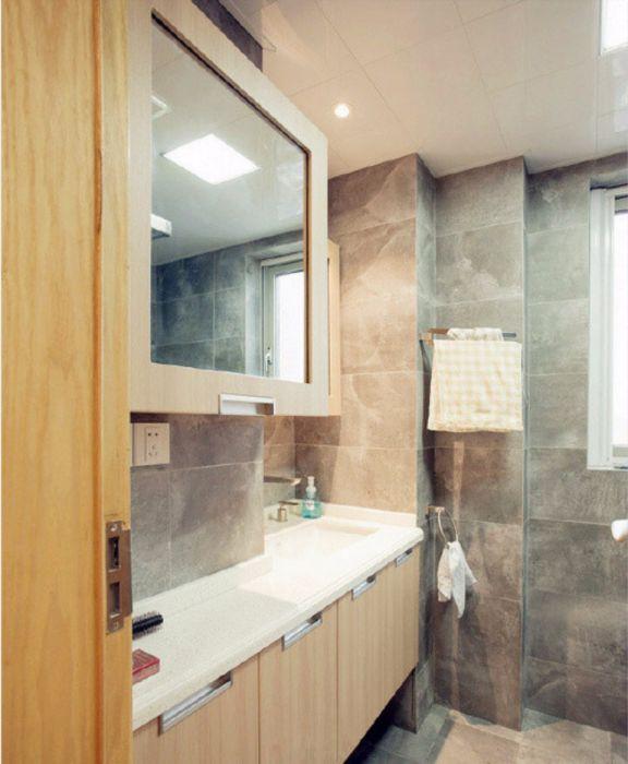 卫生间洗漱台日式风格装饰图片