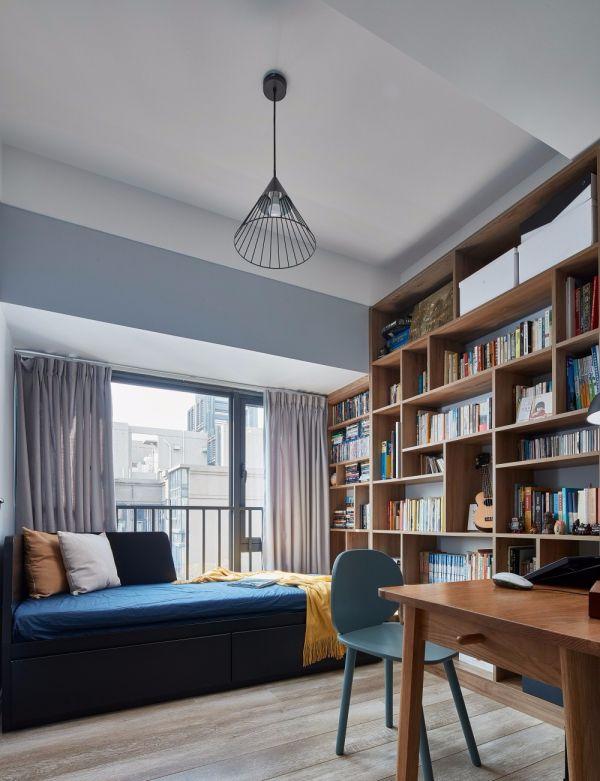 书房书架美式风格装饰图片