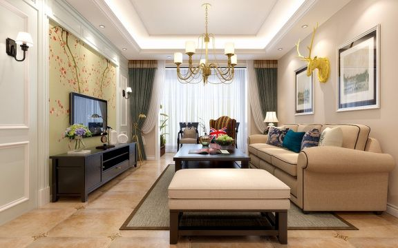 现代简约风格142平米四室两厅新房装修效果图