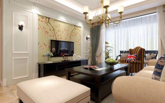 客厅茶几现代简约风格装修图片