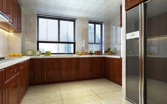 厨房橱柜新中式风格装修图片