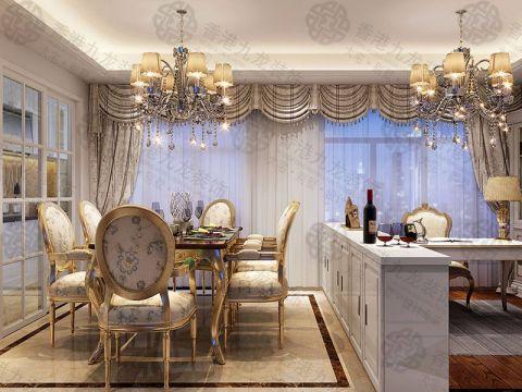 餐厅餐桌现代欧式风格装潢图片